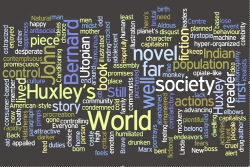 A Wordle Using Jordan Harbord's BNW Review as a Source Text